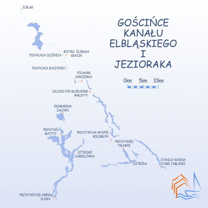 Gościńce Kanału Elbląskiego i Jezioraka