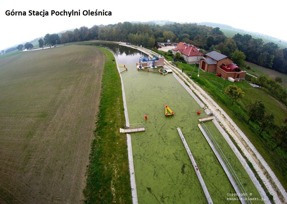 górna stacja pochylni Oleśnica